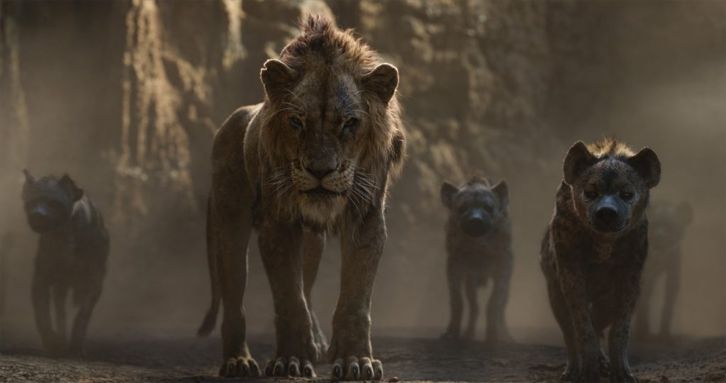 """THE LION KING - Featuring the voices of Florence Kasumba, Eric André and Keegan-Michael Key as the hyenas, and Chiwetel Ejiofor as Scar, Disney's """"The Lion King"""" is directed by Jon Favreau. In theaters July 19, 2019. © 2019 Disney Enterprises, Inc. All Rights Reserved."""